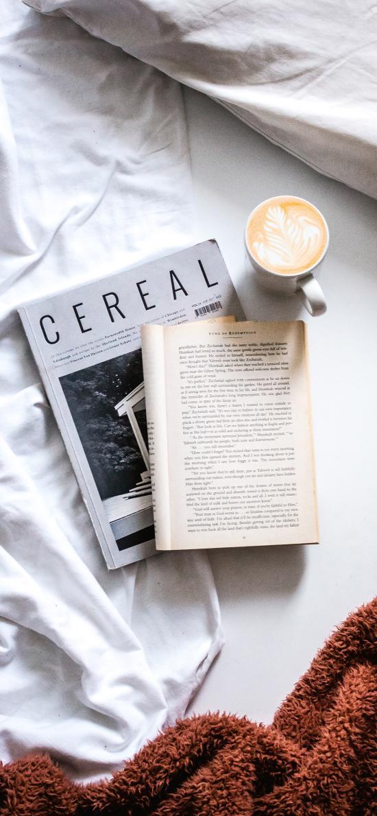 静物 书籍 杂志 咖啡 拉花