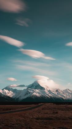 山峰 雪山 云朵 自然美景