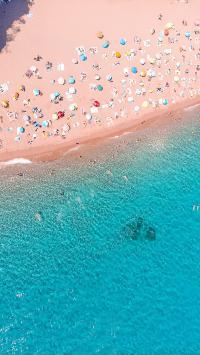 海岸 海水 沙滩 日光浴