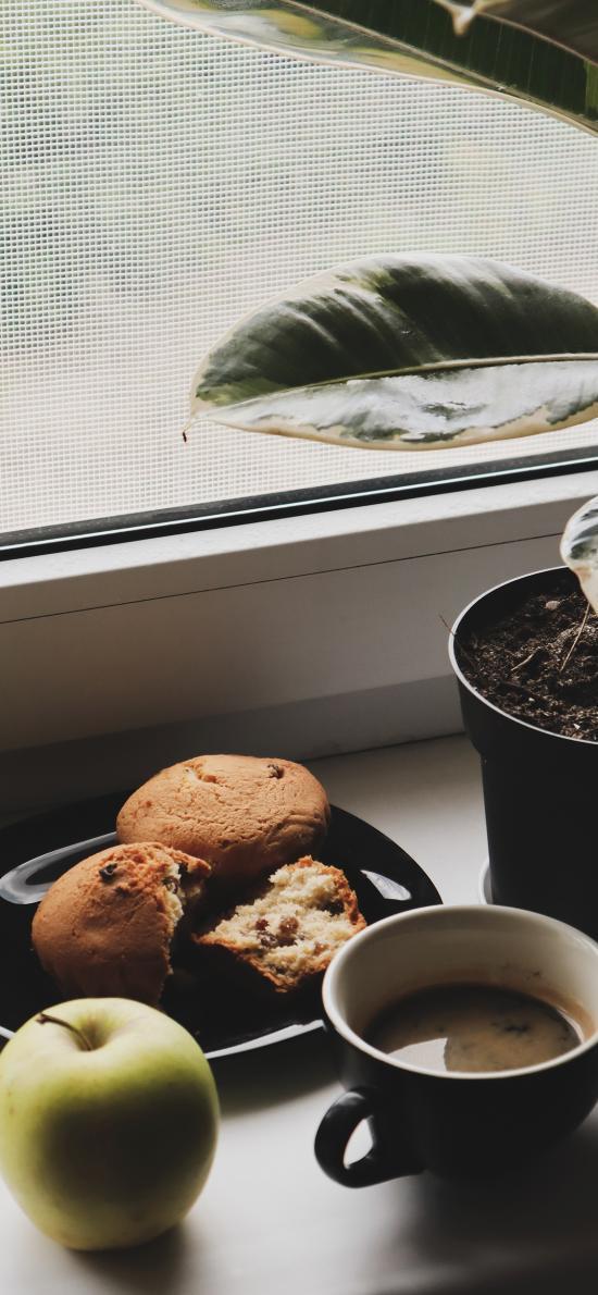 茶点 苹果 糕点 咖啡