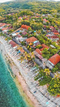 海岸线 房屋 建筑 海景
