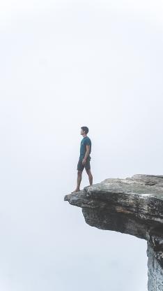 悬崖 男子 危险 高空