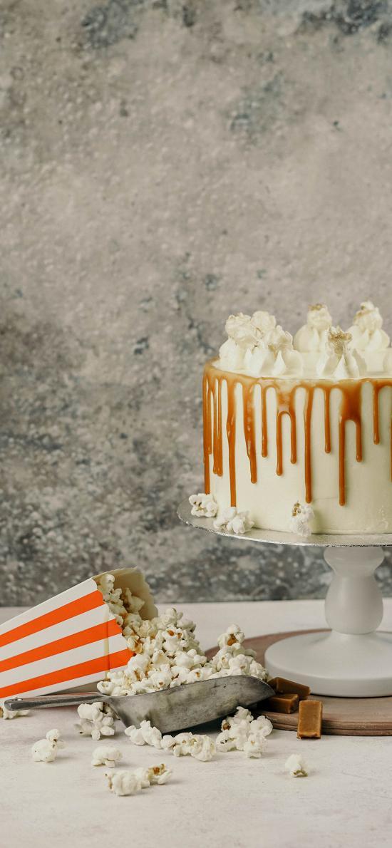 甜品 蛋糕 爆米花 零食 奶油