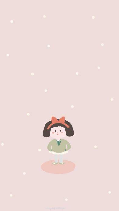 小女孩 可爱 色彩 粉