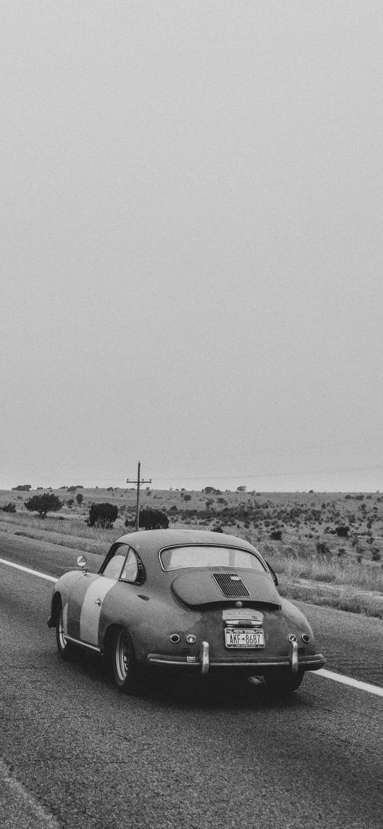 甲壳虫 复古 黑白 轿车