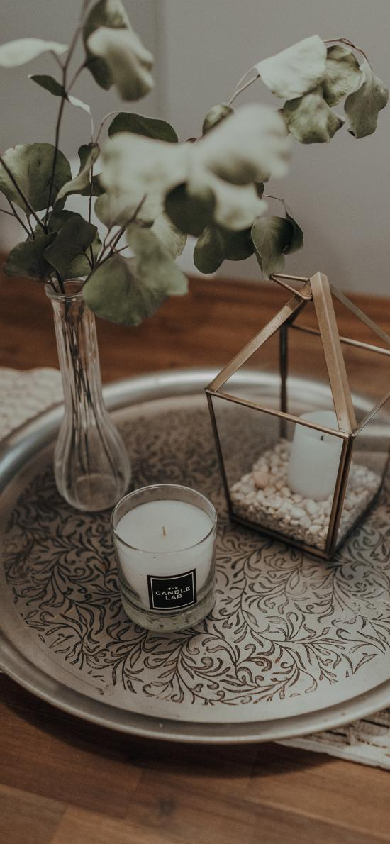 静物 烛台 尤加利 蜡烛