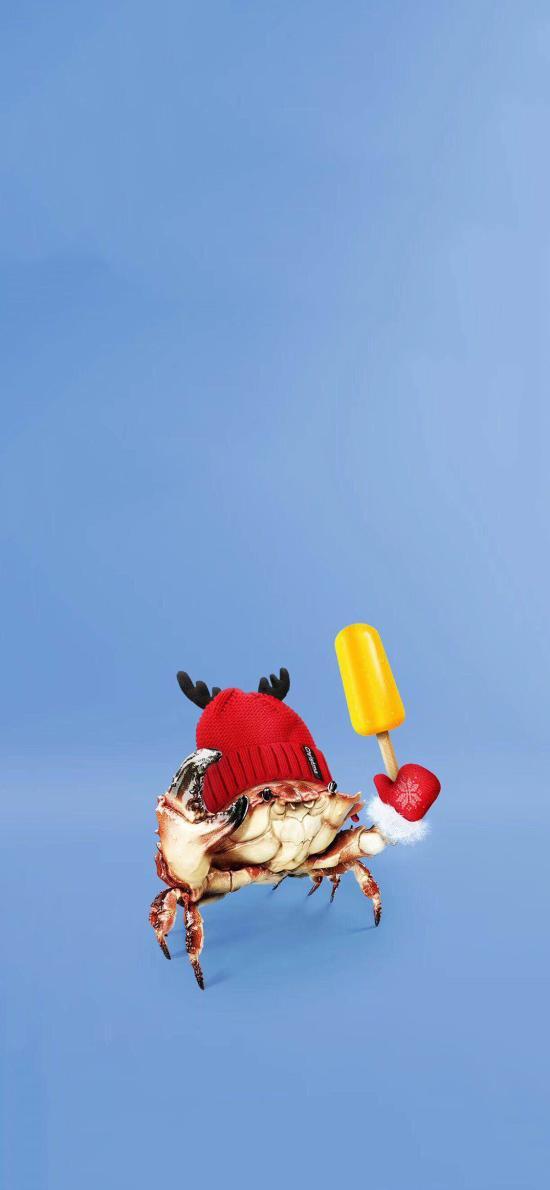 海鲜 螃蟹 创意 帽子 冰棍
