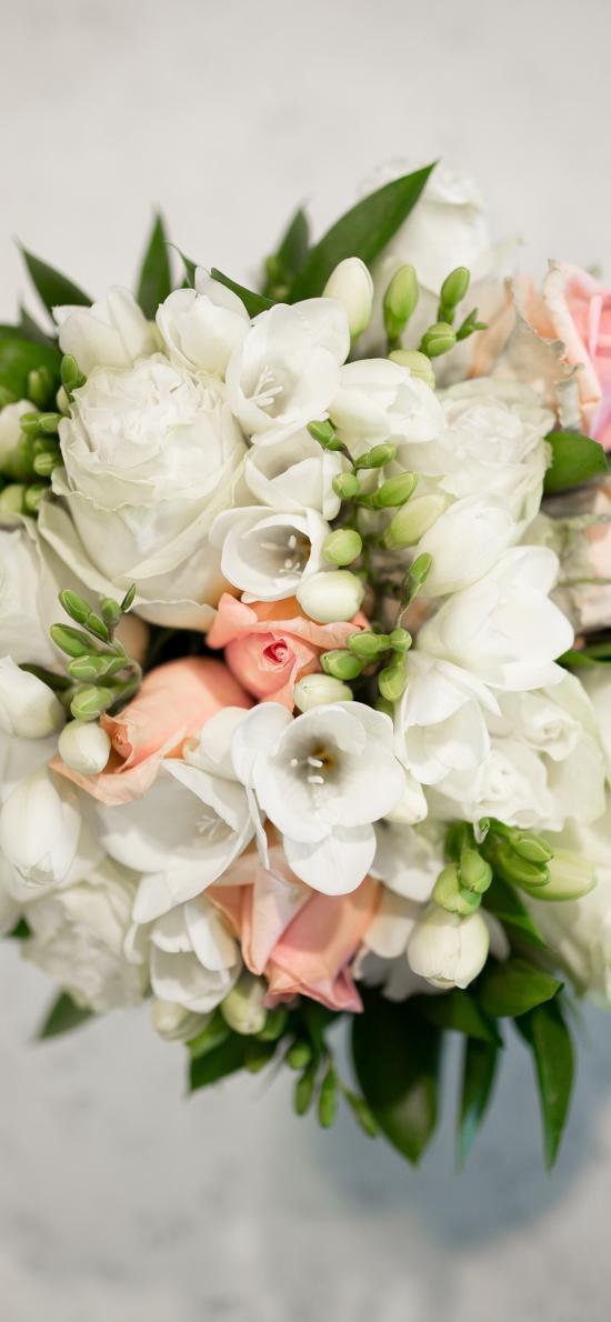 鲜花 花束 花草 枝叶