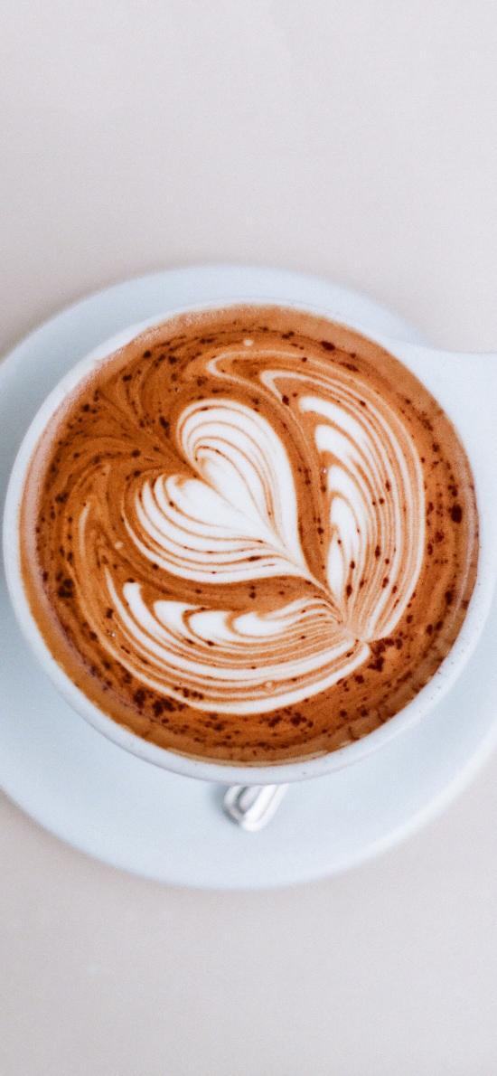 马克杯 咖啡 拉花 爱心