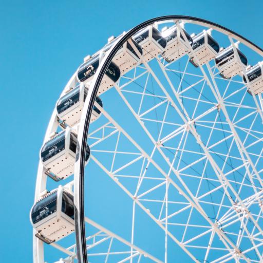 摩天轮 天空 蔚蓝 娱乐