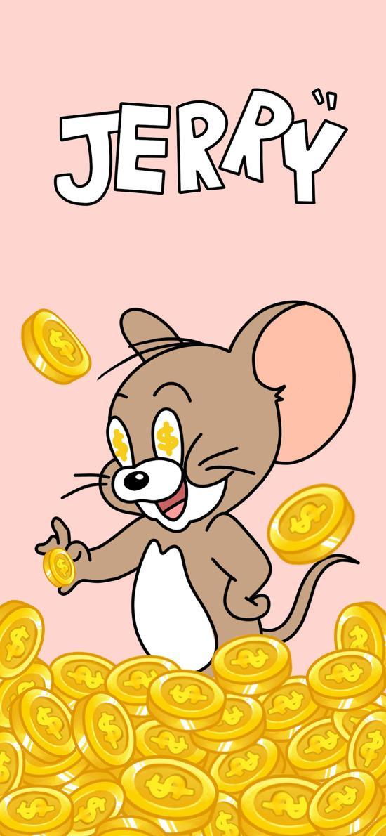 可爱 金币 猫和老鼠 Jerry 杰瑞