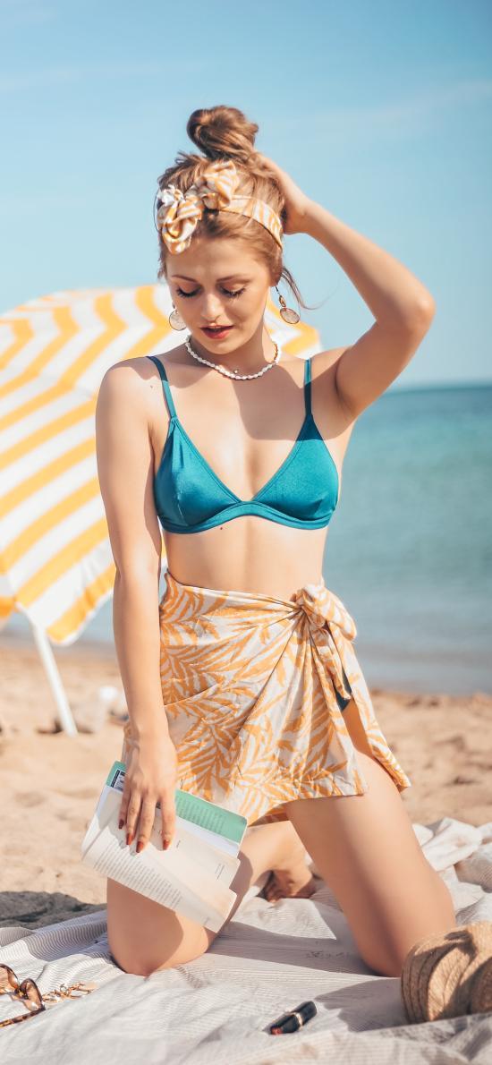 性感 比基尼 沙滩 海边