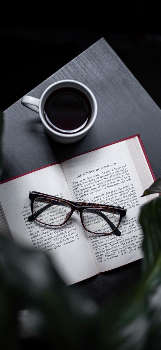 静物 咖啡 书籍 绿植