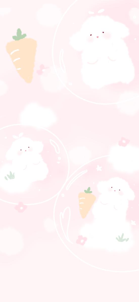 卡通 小羊 软萌 粉色