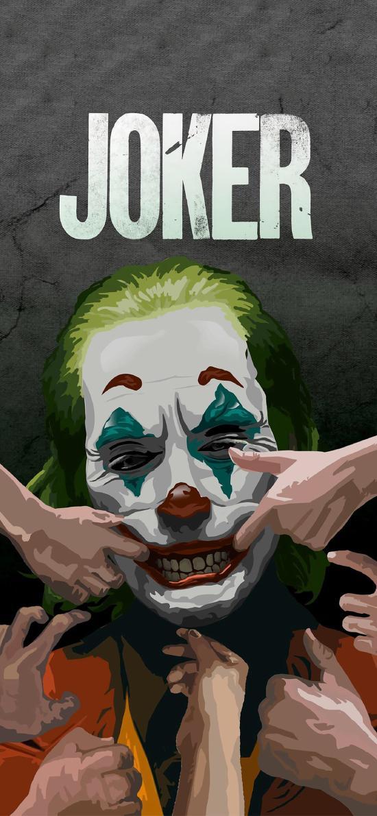 小丑 杰克 joker 笑容 拉扯