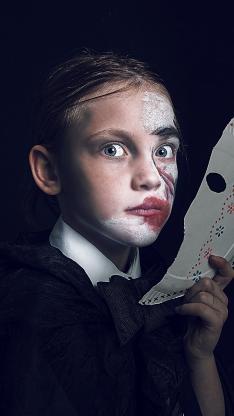 欧美 小男孩 孩童 面具 妆容