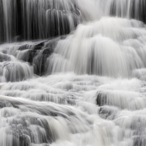 瀑布 延时 水流 落差