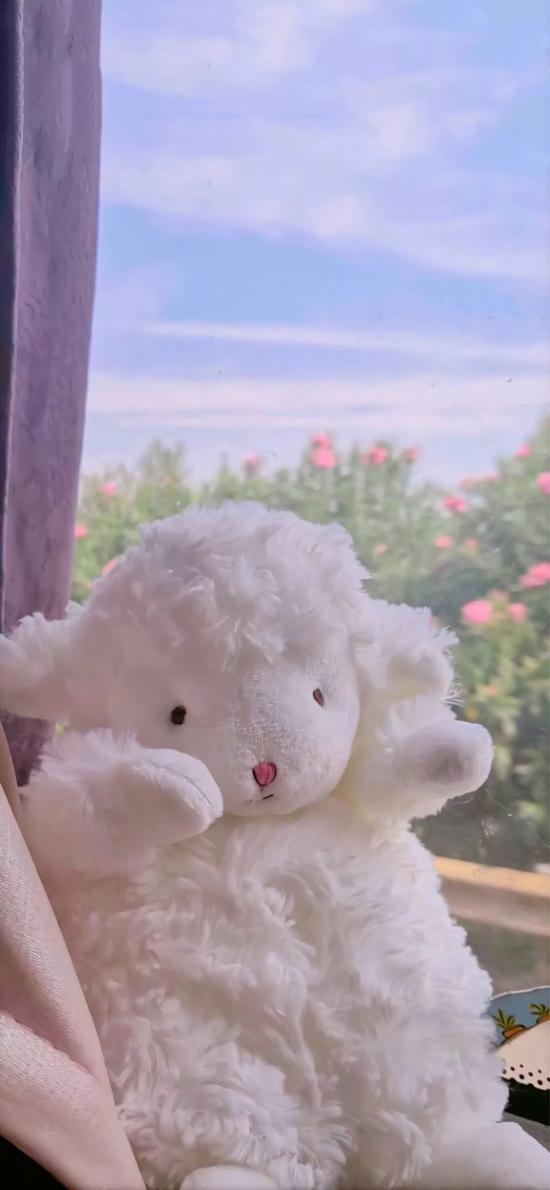 玩偶 公仔 小羊 白色 可爱