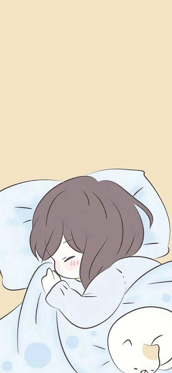 情侣壁纸 睡眠 女孩