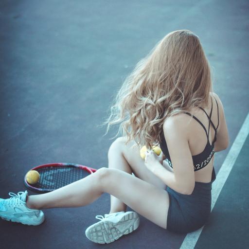 网球 女孩 背影 运动 性感