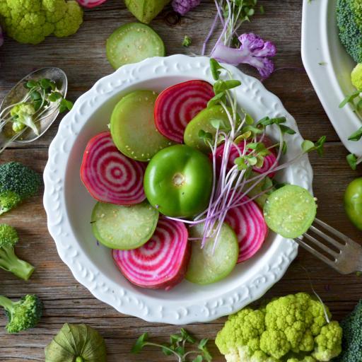 素食 蔬菜 花椰菜 萝卜 番茄 西红柿