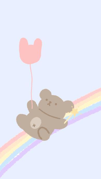 卡通 小熊 彩虹 可爱(取自微博:小熊代言人)