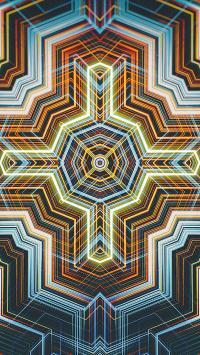 炫彩 光亮 色彩 几何 科技