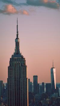 高楼 大厦 夕阳 城市