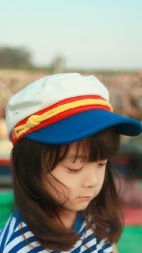 哈琳 童模 帽子 可爱