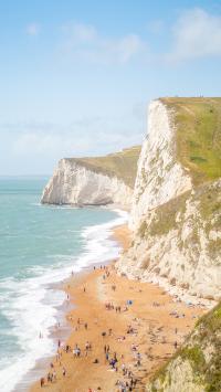 海岸 海边 沙滩 峭壁