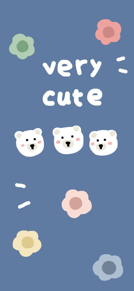 卡通 小花 小熊 very cute