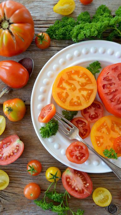 西红柿 蔬菜 圣女果 新鲜 色彩