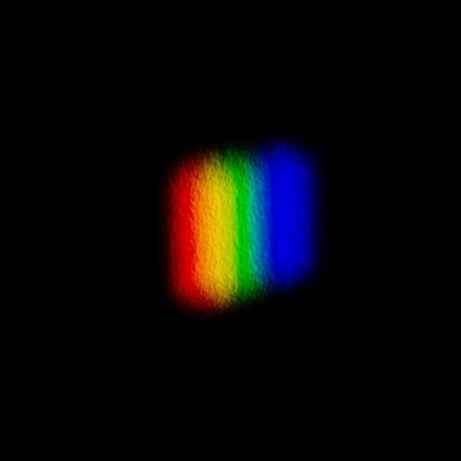 黑色背景 彩虹光 简约 苹果