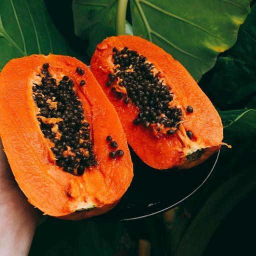 木瓜 黑籽 成熟 蔬菜