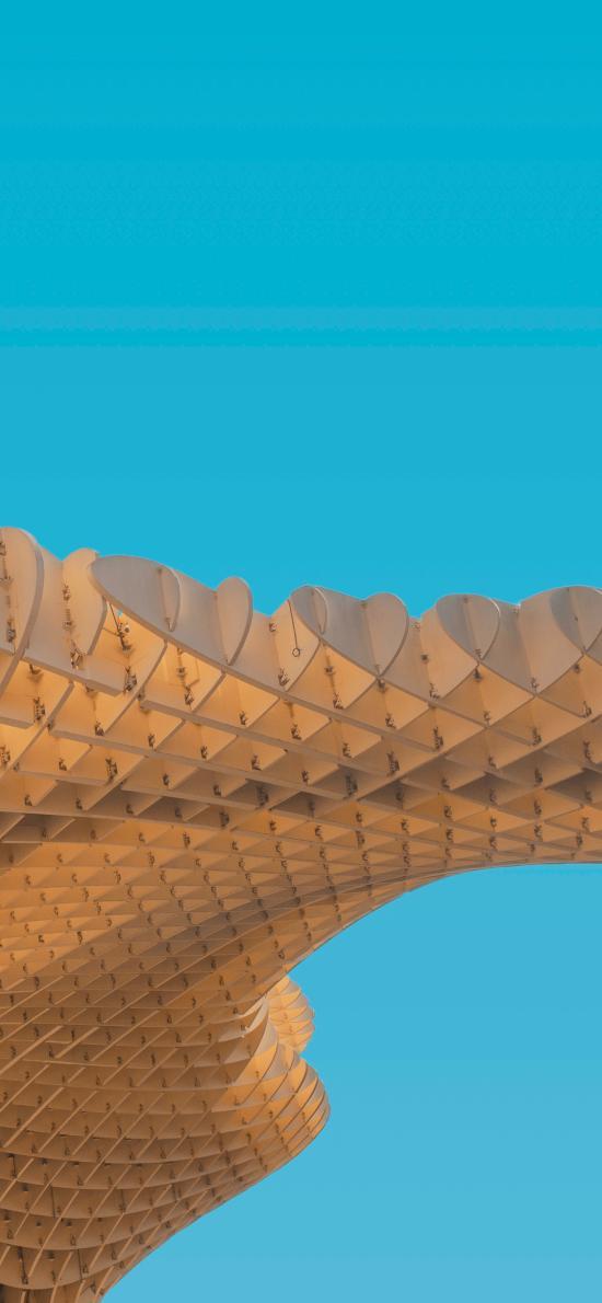 蓝天 建筑 设计 创意 几何