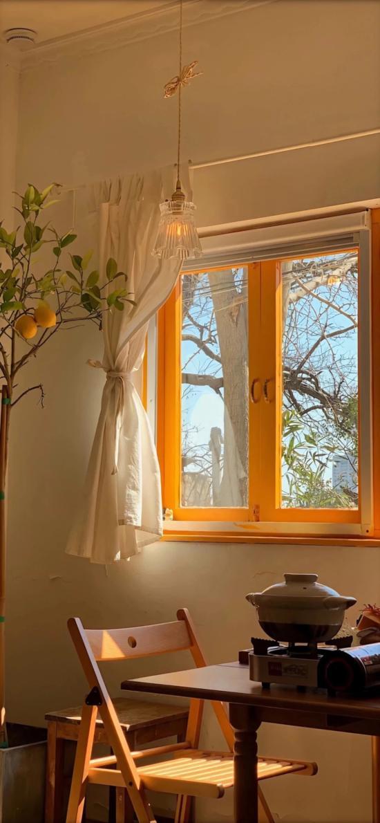 房角 角落 设计 窗户 阳光 静谧