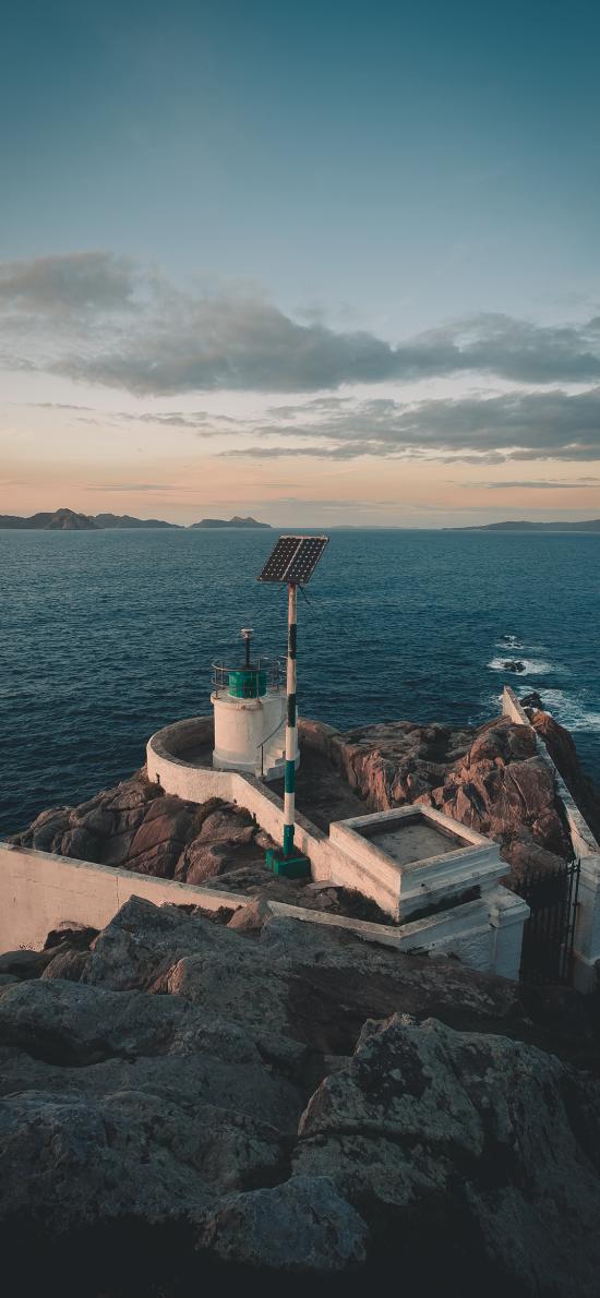 海岸 海边 观测站 太阳能