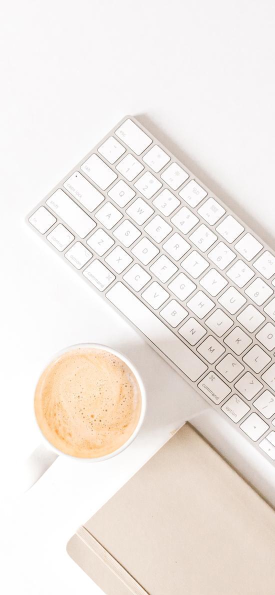 静物 鼠标 键盘 咖啡