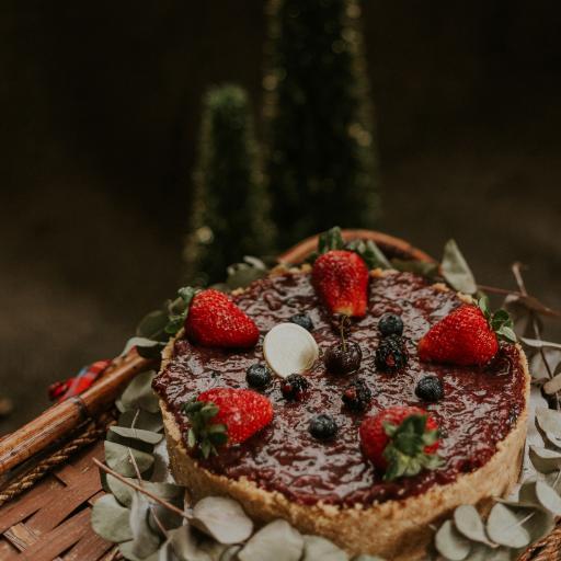 糕点 草莓 蓝莓 水果 蛋糕
