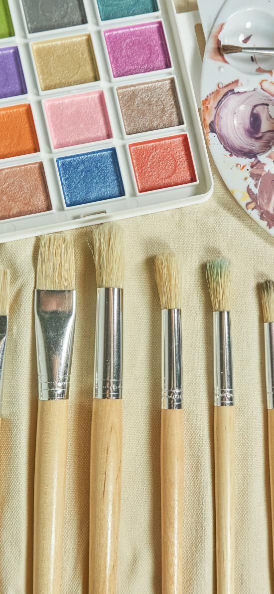 画笔 颜料 工具 彩绘