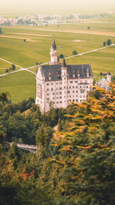 城堡 建筑 山庄 树林
