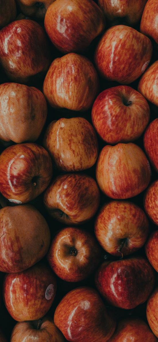 水果 苹果 密集 平铺 果蜡