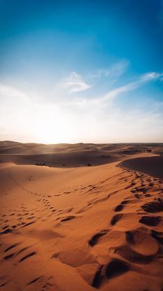 沙漠 荒漠化 天空 唯美