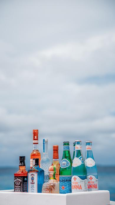 酒水 洋酒 托盘 玻璃瓶