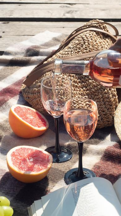 酒水 西柚 野餐 户外 书籍