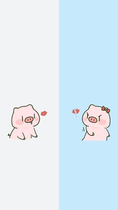 聊天区 分隔 猪 亲吻