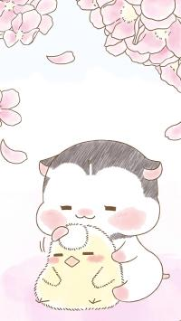 可爱 绘画 粉 小黄鸡 小企鹅