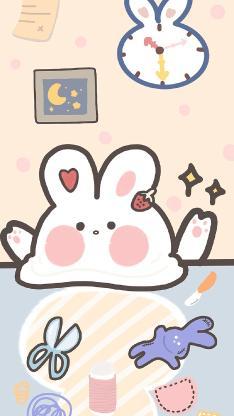 兔子 剪刀 卡通 可爱
