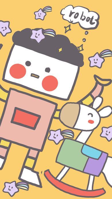 卡通 机器人 robot  色彩