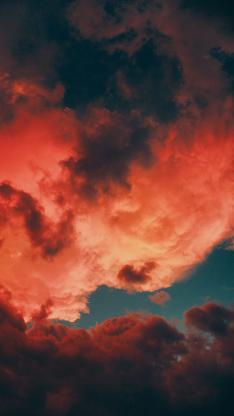 云空 运动 红霞 自然